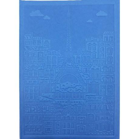 Carnet bleu tour Eiffel embossée