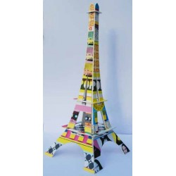 Tour Eiffel carte postale Pop Art