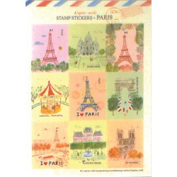 Stickers Timbres Paris