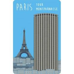 Magnet en plexiglas tour Montparnasse bleu pâle