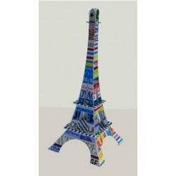 Tour Eiffel carte postale Typo