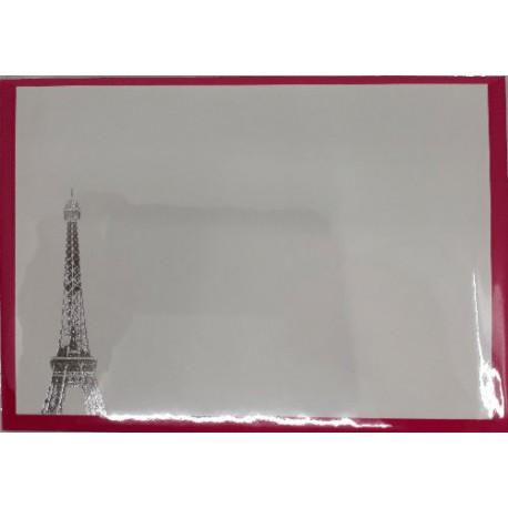 Carte Tour Eiffel couleur