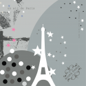 Foulard un air de paris gris